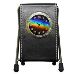 Rainbow Color Prism Colors Pen Holder Desk Clocks
