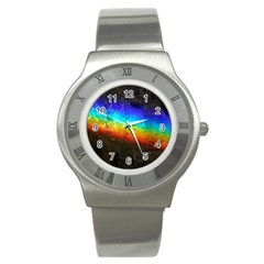 Rainbow Color Prism Colors Stainless Steel Watch