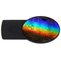 Rainbow Color Prism Colors USB Flash Drive Oval (4 GB)