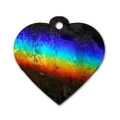 Rainbow Color Prism Colors Dog Tag Heart (one Side)