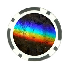 Rainbow Color Prism Colors Poker Chip Card Guard