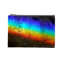 Rainbow Color Prism Colors Cosmetic Bag (large)