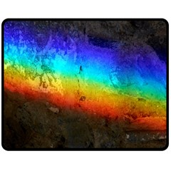 Rainbow Color Prism Colors Fleece Blanket (medium)