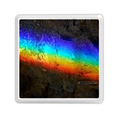 Rainbow Color Prism Colors Memory Card Reader (square)
