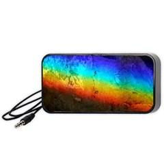 Rainbow Color Prism Colors Portable Speaker (black)