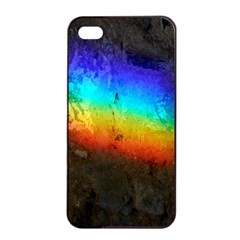 Rainbow Color Prism Colors Apple Iphone 4/4s Seamless Case (black)