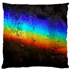 Rainbow Color Prism Colors Large Cushion Case (two Sides)