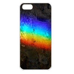 Rainbow Color Prism Colors Apple Iphone 5 Seamless Case (white)