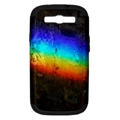 Rainbow Color Prism Colors Samsung Galaxy S Iii Hardshell Case (pc+silicone)