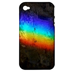 Rainbow Color Prism Colors Apple Iphone 4/4s Hardshell Case (pc+silicone)