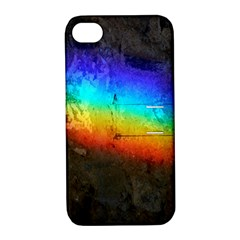 Rainbow Color Prism Colors Apple Iphone 4/4s Hardshell Case With Stand