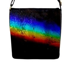 Rainbow Color Prism Colors Flap Messenger Bag (l)
