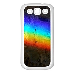 Rainbow Color Prism Colors Samsung Galaxy S3 Back Case (white)