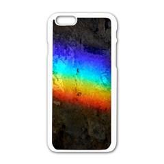 Rainbow Color Prism Colors Apple iPhone 6/6S White Enamel Case