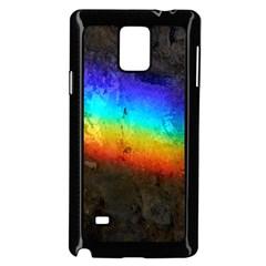 Rainbow Color Prism Colors Samsung Galaxy Note 4 Case (black)