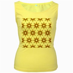 Seamless Repeating Tiling Tileable Women s Yellow Tank Top