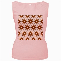 Seamless Repeating Tiling Tileable Women s Pink Tank Top