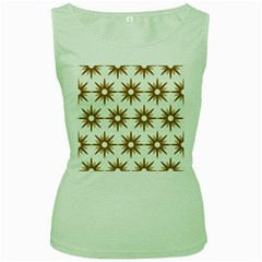 Seamless Repeating Tiling Tileable Women s Green Tank Top