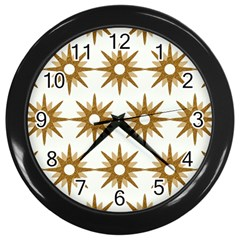 Seamless Repeating Tiling Tileable Wall Clocks (black)