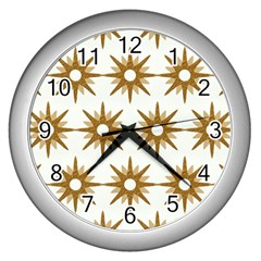 Seamless Repeating Tiling Tileable Wall Clocks (silver)