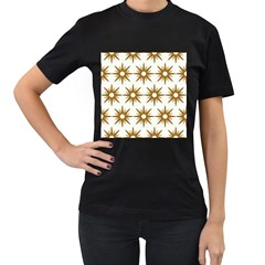 Seamless Repeating Tiling Tileable Women s T Shirt (black) (two Sided)
