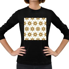 Seamless Repeating Tiling Tileable Women s Long Sleeve Dark T Shirts