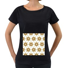 Seamless Repeating Tiling Tileable Women s Loose Fit T Shirt (black)