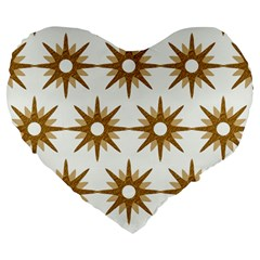 Seamless Repeating Tiling Tileable Large 19  Premium Heart Shape Cushions
