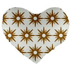 Seamless Repeating Tiling Tileable Large 19  Premium Flano Heart Shape Cushions