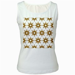 Seamless Repeating Tiling Tileable Women s White Tank Top