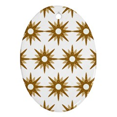 Seamless Repeating Tiling Tileable Oval Ornament (two Sides)