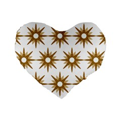 Seamless Repeating Tiling Tileable Standard 16  Premium Heart Shape Cushions