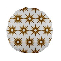 Seamless Repeating Tiling Tileable Standard 15  Premium Flano Round Cushions