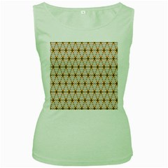 Seamless Wallpaper Background Women s Green Tank Top