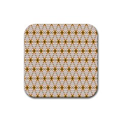 Seamless Wallpaper Background Rubber Square Coaster (4 Pack)