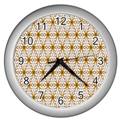 Seamless Wallpaper Background Wall Clocks (silver)