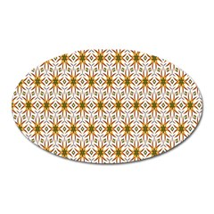 Seamless Wallpaper Background Oval Magnet