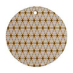 Seamless Wallpaper Background Round Ornament (two Sides)
