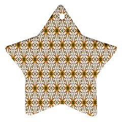 Seamless Wallpaper Background Star Ornament (two Sides)