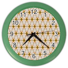 Seamless Wallpaper Background Color Wall Clocks