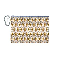 Seamless Wallpaper Background Canvas Cosmetic Bag (m)