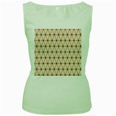 Seamless Wallpaper Background Women s Green Tank Top