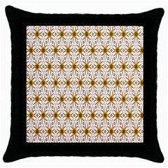 Seamless Wallpaper Background Throw Pillow Case (black)