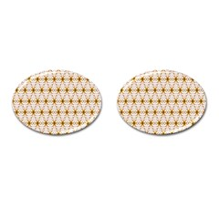 Seamless Wallpaper Background Cufflinks (oval)