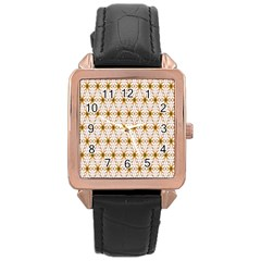 Seamless Wallpaper Background Rose Gold Leather Watch