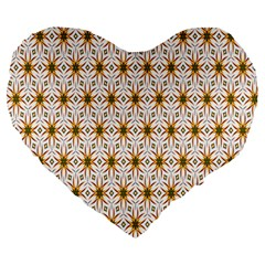 Seamless Wallpaper Background Large 19  Premium Flano Heart Shape Cushions