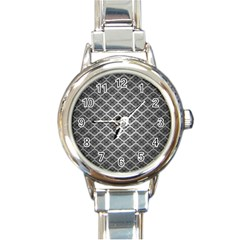 Silver The Background Round Italian Charm Watch