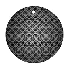 Silver The Background Ornament (round)