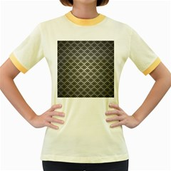 Silver The Background Women s Fitted Ringer T Shirts