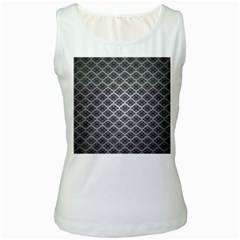 Silver The Background Women s White Tank Top